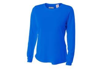 (Small, Royal) - Bradley Loose Fitting Long Sleeve Rash Guard Swim Shirt with UV Protection