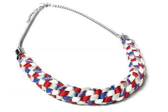 Cousin Paracord Kit, Red and Blue Necklace