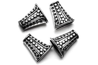 Cousin Corporation of America 4pc Large Silver Dotted Bead Cone