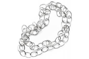 Large Oval Link Silver Chain - 80cm