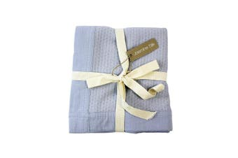 (Blue) - Jasmine Silk 100% Bamboo Cellular Baby Blanket (Blue)