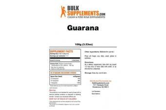 Bulksupplements Pure Guarana Powder (100 grammes)