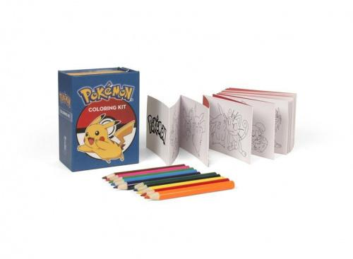Pokemon Coloring Kit The Pokemon franchise is more popular than ever with the launch of Pokemon GO and new video games Pokemon Sun and Pokemon Moon. The latest in our growing and hugely successful coloring kit series, the Pokemon Coloring Kit includes 10 colored pencils and 46 illustrated cards featuring different Pokemon to color, connected by an accordion fold to create a banner display. Pokemon Trainers of all ages will love bringing their favorite Pokemon to vibrant life with this portable coloring kit. Kit includes:* accordion fold of 46 illustrated cards of various Pokemon characters to color * 10 colored pencils