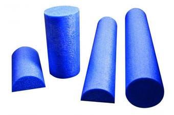 (6 Inches x 12 Inches, Half Round) - CanDo 30-2153 PE Foam Roller, Half-Round, 15cm x 30cm , Blue