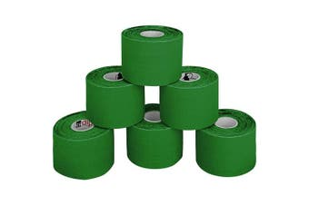 (Green) - BB Sport 6 Rolls Kinesiology Tape Muscle Support Tape 5 m x 5 cm E-Book Application Examples Muscle Support Elastic Strapping Tape, Colour:Green