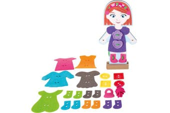 Small Foot 10185 Girl Threading Dressing Doll