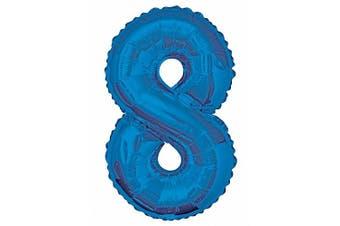 (Blue, Number 8) - Unique Party 141600cm - 90cm Giant Blue Foil Number 8 Balloon