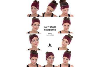 (Dark Teal) - BLOM Original. Women's Headband for Yoga or Fashion, Workout or Travel. Happy Head Guarantee. Super Comfortable. Designer Style & Quality.