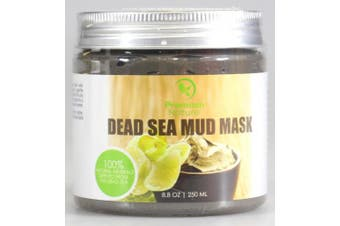 Dead Sea Mud Mask 240ml, Melts Cellulite, Treats Acne and Problem Skin, Also Acts as Pore Minimizer and Wrinkle Reducer, By Premium Nature