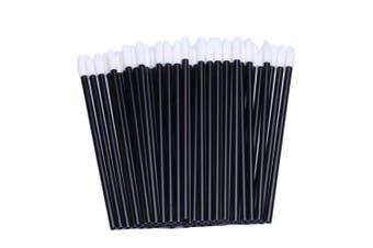 (100 of Black) - 100pcs Disposable Lip Gloss Applicators Lipstick Wands Tool Kits
