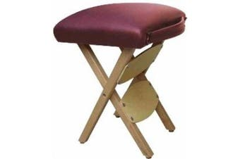 Therapist's Choice® Portable Wooden Folding Massage Stool (Burgundy)