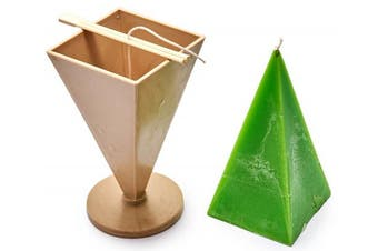 (3) - Pyramid Taper mould - height: 21cm , width: 9.9cm - 9.1m of wick included as a gift - Plastic candle moulds for making candles