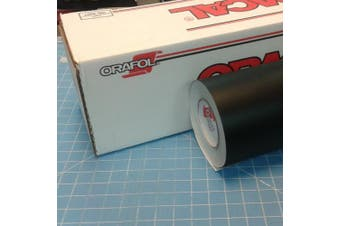 30cm x 3m Roll of Oracal 751 Matte Black Vinyl for Craft Cutters and Vinyl Sign Cutters