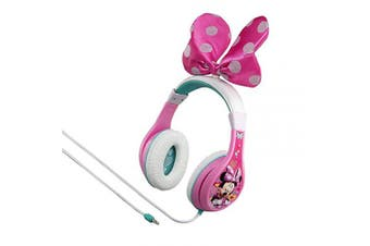 (Minnie Mouse) - Minnie Mouse Headphones for Kids with Built in Volume Limiting Feature for Kid Friendly Safe Listening