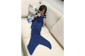 (baby, purplish blue) - Coroler Pretty Mermaid Blanket Home Fashion Acrylic Material Super Soft,Perfect Gifts(Birthday,Christmas,ect) for 1~4 Babies