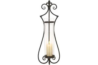 (80cm  by 28cm ) - Deco 79 68751 Metal & Glass Candle Sconce
