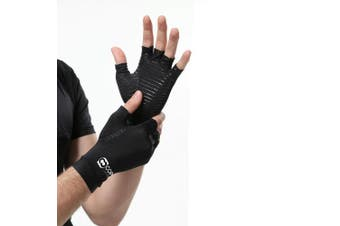 ( Large ) - Copper Compression Arthritis Gloves - Guaranteed Highest Copper Content. Best Copper Infused Fit Glove for Women and Men. Carpal Tunnel, Computer Typing, and Everyday Support for Hands (1 Pair)
