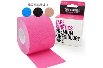 (Podium Pink) - TAPE KINETICS Premium Kinesiology Tape | 5.1cm x 5m | Waterproof & Latex-free ( Black, Pink, Blue or Beige )