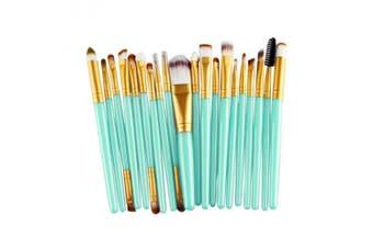 (Gold) - Cinidy 20 pcs Makeup Brush Set tools Make-up Toiletry Kit Wool Make Up Brush Set (Gold )