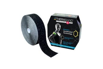 TheraBand Kinesiology Tape, Physio Tape for Pain Relief and Joint and Muscle Support, Kinesthetic Tape for Plantar Fasciitis, Knee, Ankle, Foot, and Shoulder Injury, Standard Roll with XactStretch Application Indicators, 5.1cm x 31m Bulk Roll, ..