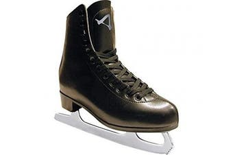 (10, Black) - American Athletic Shoe Men's Leather Lined Figure Skates