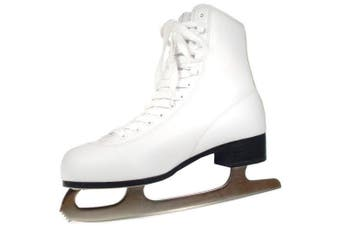 (8, White) - American Athletic Shoe Women's Tricot Lined Ice Skates