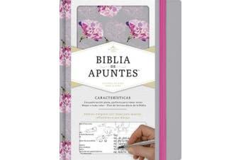 Rvr 1960 Biblia de Apuntes, Gris Y Floreado Tela Impresa [Spanish]