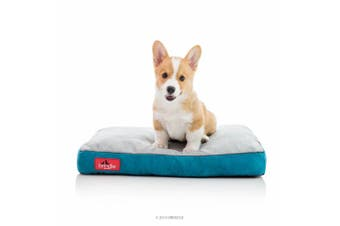 (60cm  x 41cm , Teal) - BRINDLE Soft Memory Foam Dog Bed with Removable Washable Cover