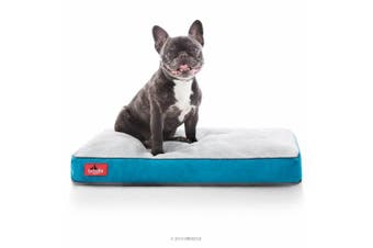 (43cm  x 28cm , Teal) - BRINDLE Soft Memory Foam Dog Bed with Removable Washable Cover