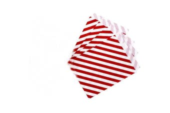 AKOAK 50 Pcs 13cm x 18cm White and Red Striped Paper Bags,Holiday Wedding Christmas Favour Candy Treat Bags