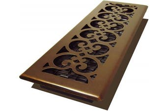 (Rubbed Bronze Finish) - Decor Grates SPH414-RB 4x 14 Scroll Plated Register, 10cm by 36cm , Rubbed Bronze