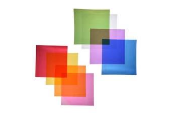 Outus Cello Sheets Cellophane Wraps, 20cm x 20cm , 8 Colours, 104 Pieces