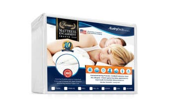(Twin) - Smooth Top Mattress Encasement Protector Cover by CushyBeds - Patented 360 Zipper Enclosure w/ Bed Bug Banisher, Breathable 100% Waterproof Noiseless 6-Sided Protection - Twin (28cm - 38cm Depth)