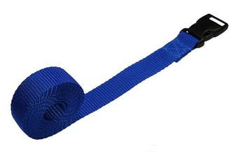 (ocean blue, 3 metres) - Benristraps 25mm Webbing Strap with Quick-Release Buckle