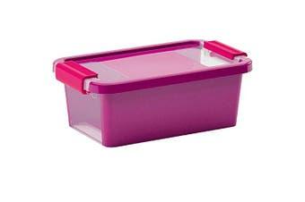 "Kis ""Bi Storage Box, Purple/Transparent, 3 Litre"