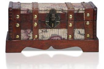(Toronto S) - Brynnberg - Pirate Treasure Chest Storage Box - Durable Wood & Metal Construction - Unique, Handmade Vintage Design - Striking Decorative Element - The Best Gift (Toronto S)