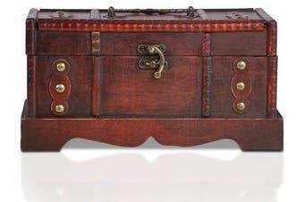 (Berlin S) - Brynnberg - Pirate Treasure Chest Storage Box - Durable Wood & Metal Construction - Unique, Handmade Vintage Design - Striking Decorative Element - The Best Gift (Berlin S)