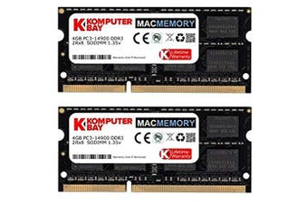 (MACMEMORY 8GB (2x 4GB) 1867MHz) - Komputerbay MACMEMORY 8GB Dual Channel Kit 2x 4GB 204pin 1.35v DDR3-1867 SO-DIMM 1867/14900S (1867MHz, CL13) for Apple iMac 275K (Late 2015)