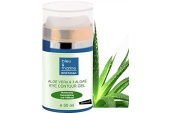 Aloe Vera & Seawwed Decongestant Eye Contour Gel 50 ml ● Reduces Puffiness and Dark circles ● Preps skin for perfect eye make-up application and lasting wear ● made in France 50 ml