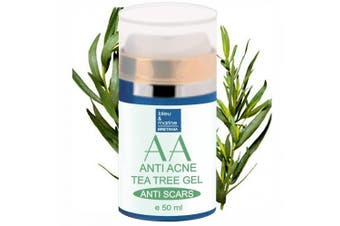 TEA TREE ANTI PIMPLE & ACNE FACIAL moisturiser 50 ml - with ALOE VERA and TEA TREE OIL - 100% Natural by bleumarine Bretania