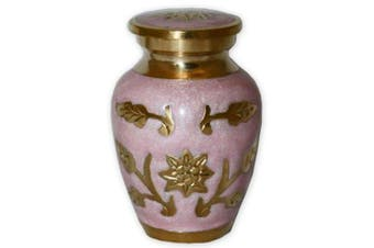 (Keepsake) - Beautiful Life Urns Pink Garden Keepsake Urn for Ashes - Small Size - NOT Intended for Full Cremation Ash Quantity