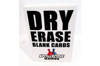 (1 Pack) - Dry Erase Blank Cards (Poker Size)