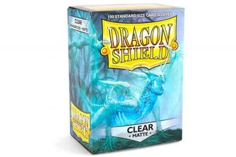 (Clear) - Dragon Shield Sleeves Matte Card Game, Clear
