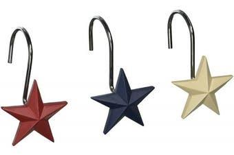 Avanti Linens 13218GMUL Texas Star Shower Hooks, Medium, Multicolor