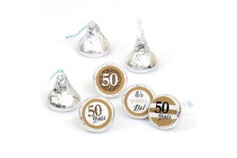 We Still Do - 50th Wedding Anniversary - Party Round Candy Sticker Favours – Labels Fit Hershey's Kisses (1 sheet of 108)