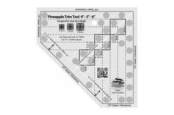 (17cm  x 17cm ) - Creative Grids Mini Pineapple Trim Tool Quilting Ruler Template [CGRJAW3MINI]