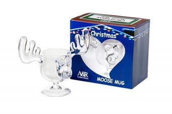 CHRISTMAS Eggnog Moose Mug - SINGLE Mug, Gift Boxed - Safer Than Glass