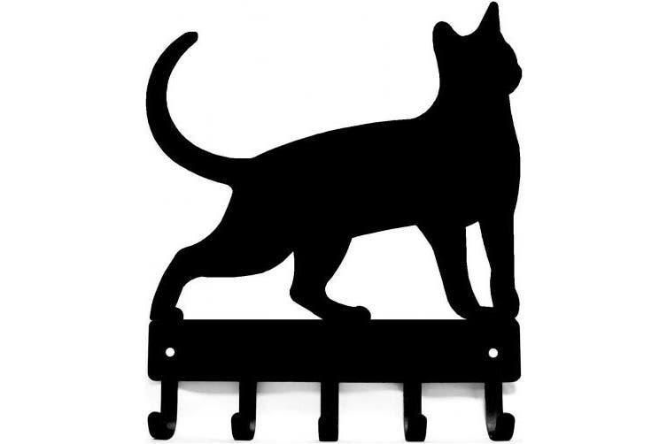 (Large 23cm  wide) - Cat #17 Key Rack with 5 hooks- Artisan Metal Shop Gifts - Large 23cm wide