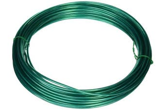 (1) - Hillman Green Plastic Coated Steel Wire for Clothesline Wire