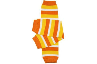 (Newborn (up to 5.4kg), Candy Corn) - Christmas and Halloween baby & toddler Leg Warmers for Girls & Boys in various styles